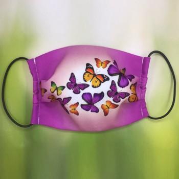 "Маска ""Бабочки на розовом фоне"""