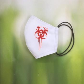 """Белая объемная маска """"Biohazard"""""""