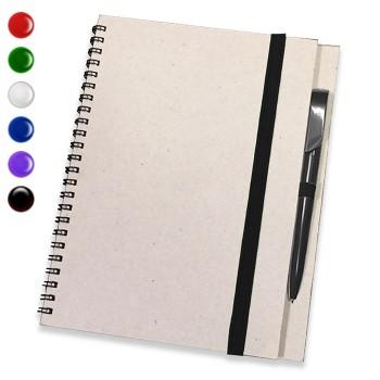 Блокнот А5 + ручка (Серый)