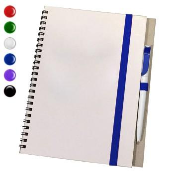 Блокнот А6 + ручка (Серый)