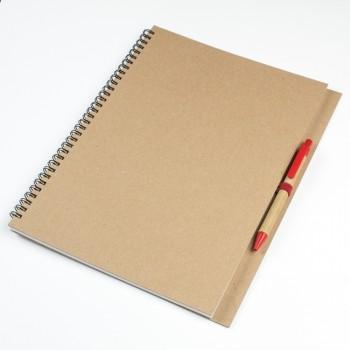 Эко блокнот A4 с ручкой
